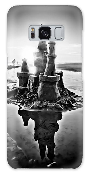 Sandcastle In Black And White Galaxy Case