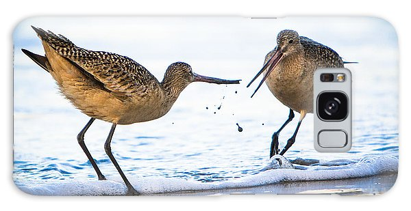 Sanderlings Playing At The Beach Galaxy Case by John Wadleigh