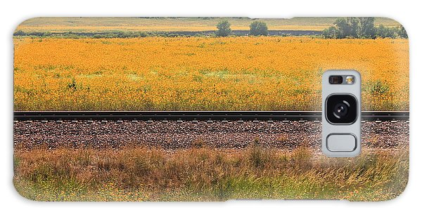 Sandhill Sunflowers Galaxy Case by Alicia Knust