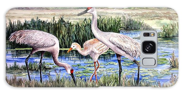 Sandhills By The Pond Galaxy Case by Roxanne Tobaison