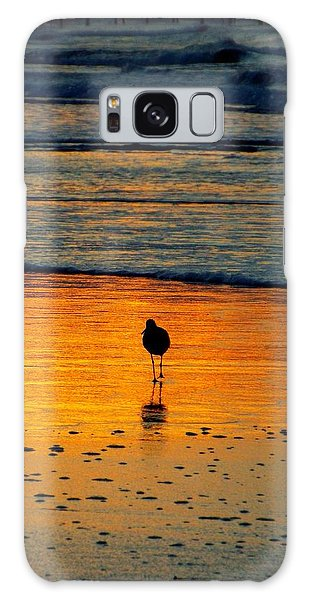 Sandpiper In Golden Dawn Surf Galaxy Case by Cindy Croal