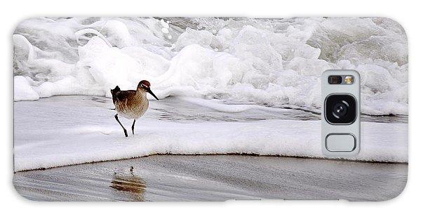 Sandpiper In The Surf Galaxy Case by AJ  Schibig