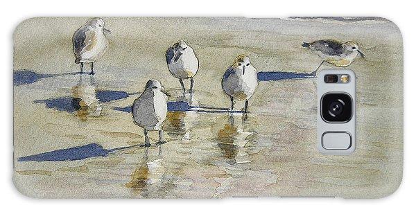 Sandpipers 2 Watercolor 5-13-12 Julianne Felton Galaxy Case