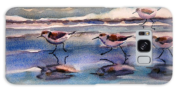 Sandpipers Running In Beach Shade 3-10-15 Galaxy Case