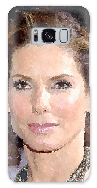 Sandra Bullock Portrait Galaxy Case