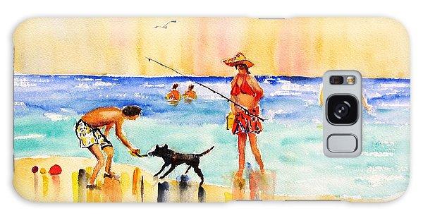 Sandy Dog At The Beach Galaxy Case by Carlin Blahnik