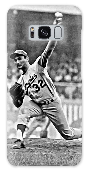 Sandy Koufax Throwing The Ball Galaxy Case
