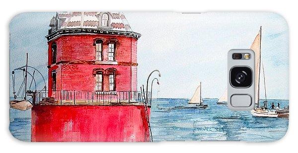 Sandy Point Lighthouse 2 Galaxy Case