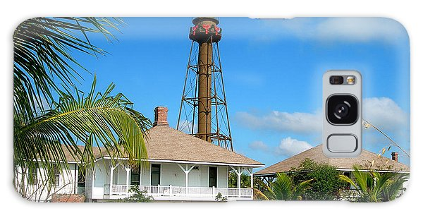 Sanibel Lighthouse At Christmas Galaxy Case by Melinda Saminski