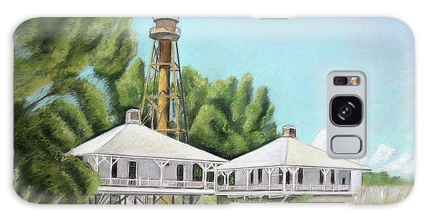 Sanibel Lighthouse Galaxy Case by Melinda Saminski