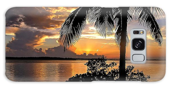 Sanibel Sunset Galaxy Case by Carol  Bradley