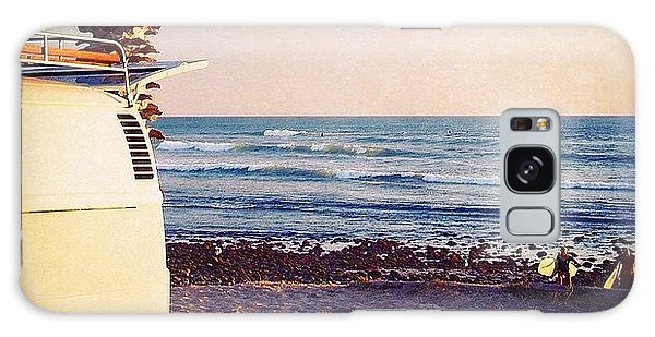 Vw Bus Galaxy Case - Vw Bus And Surfers At San Onofre by Hal Bowles