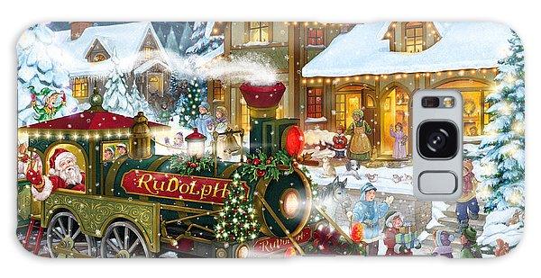 Santa Arrives In Rudolph Train Galaxy Case