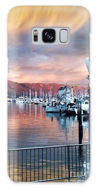 Santa Barbara Harbor Sunset Galaxy Case