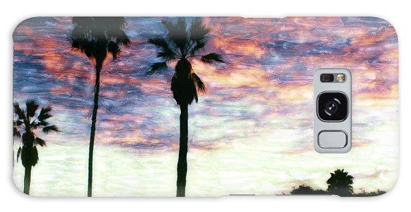 Santa Barbara Palm Sunrise Galaxy Case