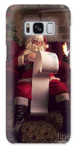 Santa Claus Galaxy Case - Santa Checking His List by Diane Diederich