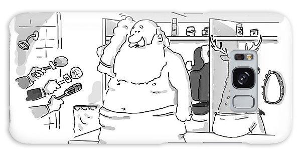 Santa Claus Is In A Locker Room Speaking Galaxy Case