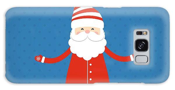 Santa Claus Galaxy Case - Santa Claus On A Blue Background by Bellenixe