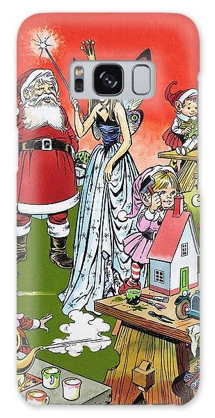 Santa Claus Toy Factory Galaxy Case