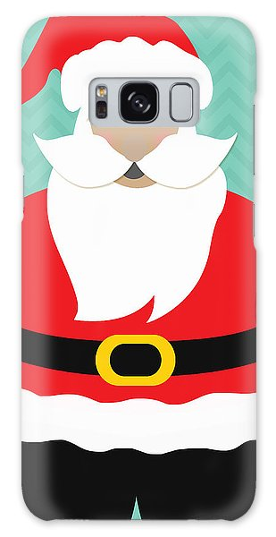 Santa Claus Galaxy Case - Santa Claus With Medium Skin Tone by Linda Woods