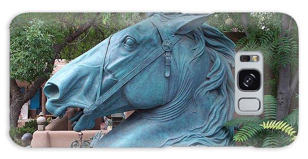 Santa Fe Big Blue Horse Galaxy Case by Sylvia Thornton