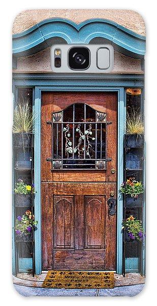 Santa Fe Blue Door Galaxy Case by Sylvia Thornton
