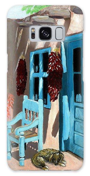 Santa Fe Courtyard Galaxy Case by Karyn Robinson