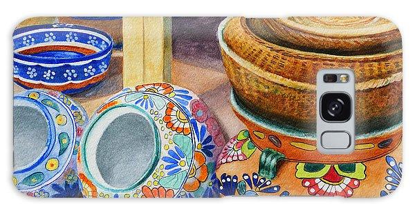 Santa Fe Hold 'em Pots And Baskets Galaxy Case