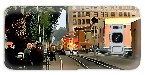 Santa Fe Train Comes Into Town Galaxy Case by Wernher Krutein
