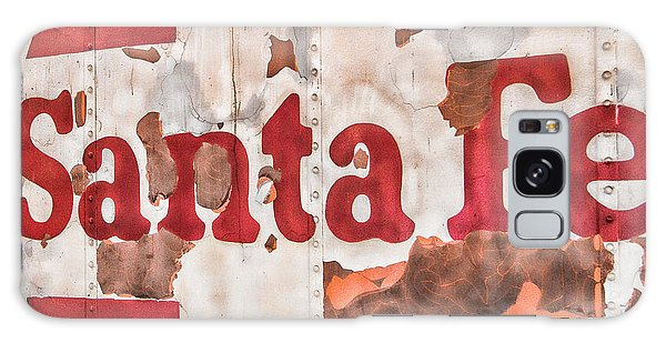 Santa Fe Vintage Railroad Sign Galaxy Case