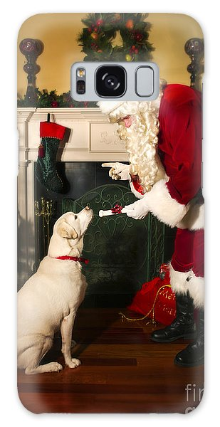 Santa Giving The Dog A Gift Galaxy Case