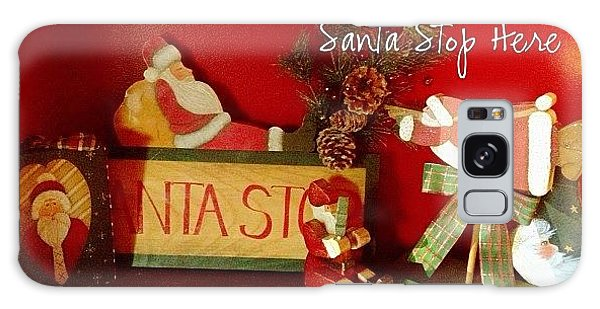 Holiday Galaxy Case - Santa Is Sure To Stop Here! #altphoto by Teresa Mucha