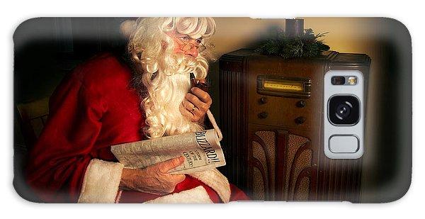 Santa Claus Galaxy Case - Santa Listening To The Weather Report by Diane Diederich