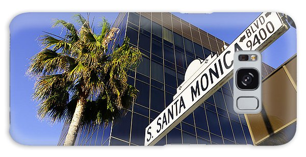 Santa Monica Blvd Sign In Beverly Hills California Galaxy Case