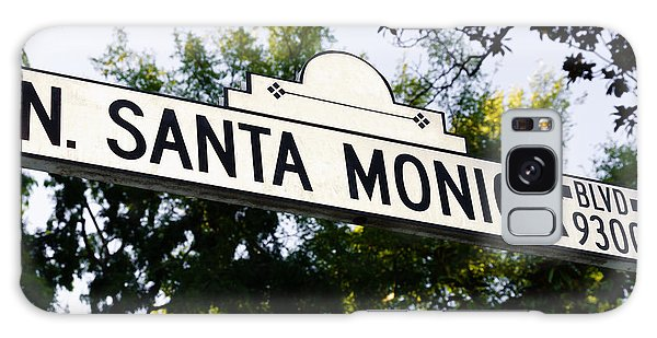 Santa Monica Blvd Street Sign In Beverly Hills Galaxy Case