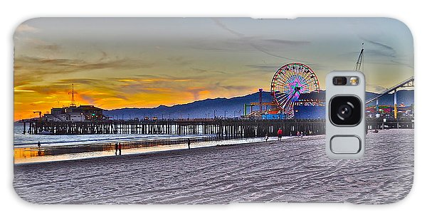 Santa Monica Pier At Dusk Galaxy Case
