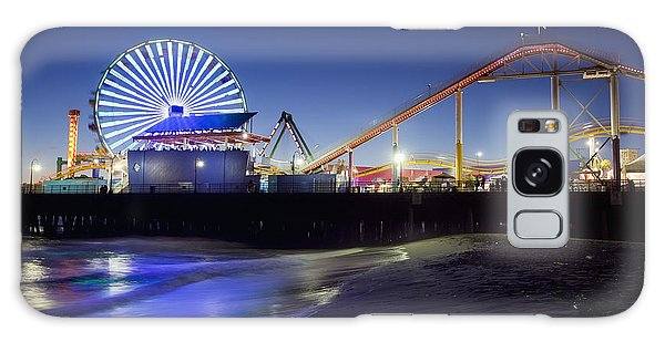 Santa Monica Pier At Night Galaxy Case