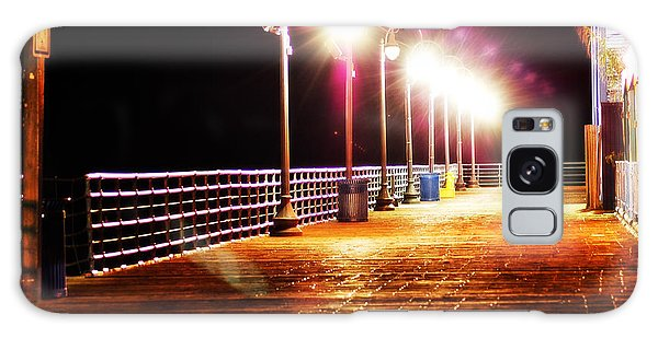 Santa Monica Pier At Night Galaxy Case