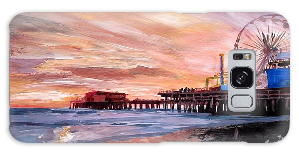 Santa Monica Galaxy S8 Case - Santa Monica Pier At Sunset by M Bleichner