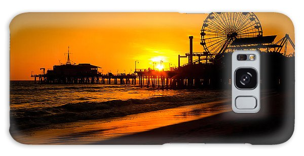 Santa Monica Galaxy S8 Case - Santa Monica Pier California Sunset Photo by Paul Velgos