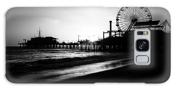 Santa Monica Galaxy S8 Case - Santa Monica Pier In Black And White by Paul Velgos
