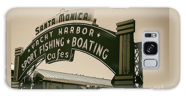 Santa Monica Pier Sign Galaxy Case by David Millenheft