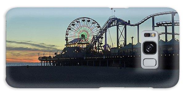 Santa Monica Pier Sunset Galaxy Case