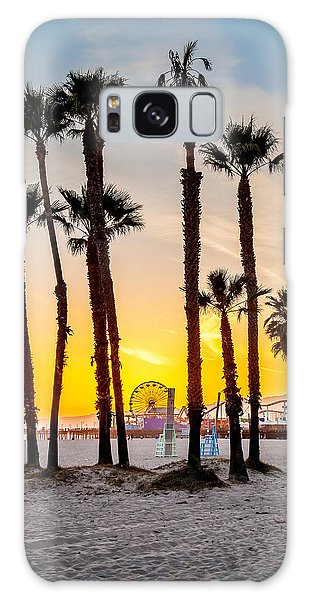 Santa Monica Galaxy S8 Case - Santa Monica Palms by Az Jackson