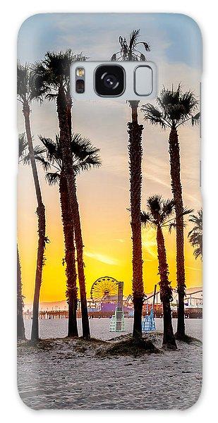 Beautiful Sunrise Galaxy Case - Santa Monica Palms by Az Jackson