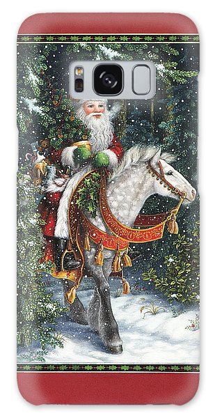 Santa Claus Galaxy Case - Santa Of The Northern Forest by Lynn Bywaters