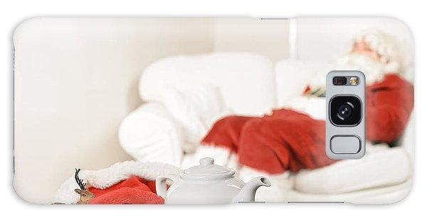 Santa Claus Galaxy Case - Santa Resting by Amanda Elwell
