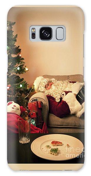 Santa Claus Galaxy Case - Santa Takes A Nap by Diane Diederich