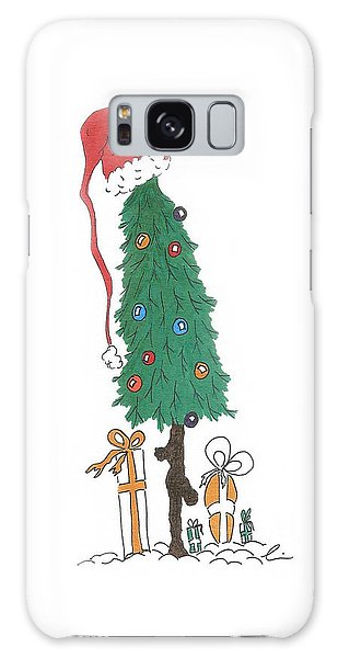 Santa Tree With Presents Galaxy Case