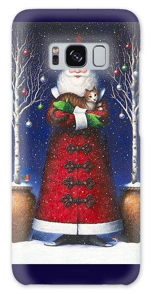 Santa's Cat Galaxy Case